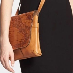 Patricia Nash Granada Leather Map Crossbody Bag
